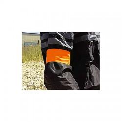 Lot de 10 - Brassard de signalisation orange fluo