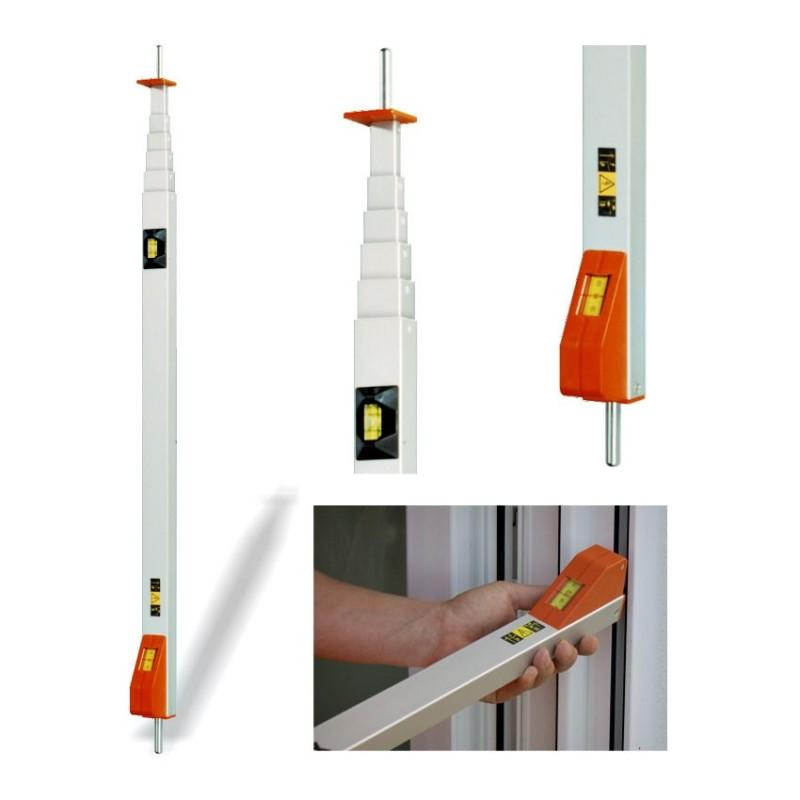 canne de mesure volet roulant messfix 4 m avec pointe. Black Bedroom Furniture Sets. Home Design Ideas