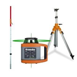 Nedo SIRIUS1 HV green - Pack Laser rotatif
