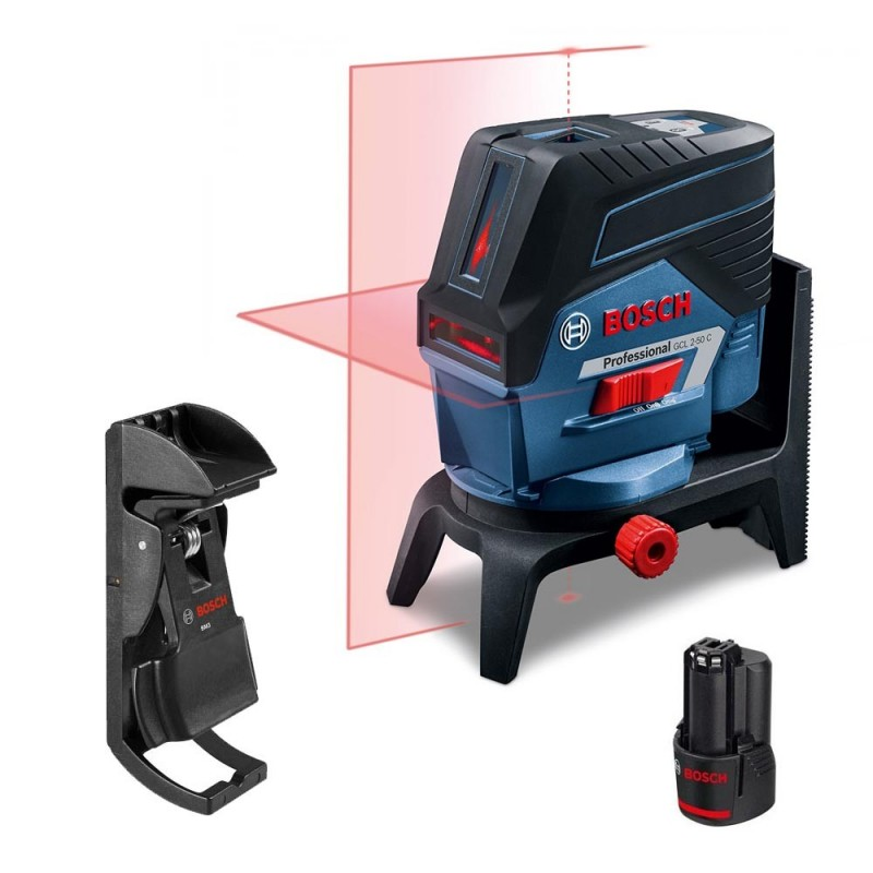 niveau laser croix bosch gcl 2 50 c pince de plafond. Black Bedroom Furniture Sets. Home Design Ideas