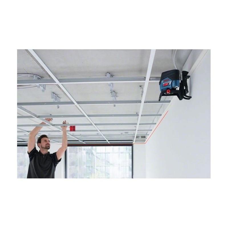 Niveau laser croix bosch gcl 2 50 c pince de plafond for Niveau laser pour plafond