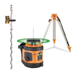 FLG 190A-GREEN - Pack Laser rotatif trépied + mire