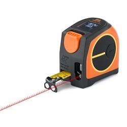 Télémètre laser et ruban de mesure